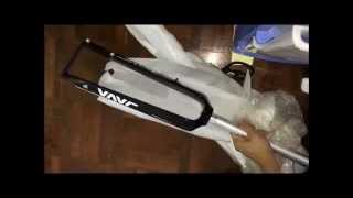 Java Carbon fiber mtb fork Unboxing ! (HD)