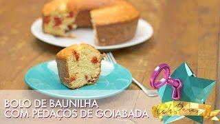 Bolo de Baunilha com Goiabada