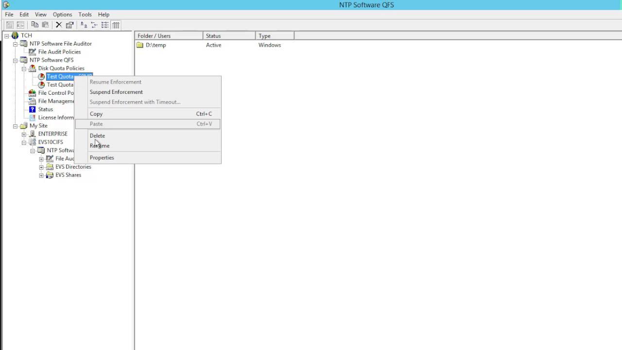 NTP Software - QFS - Show Advanced Setting