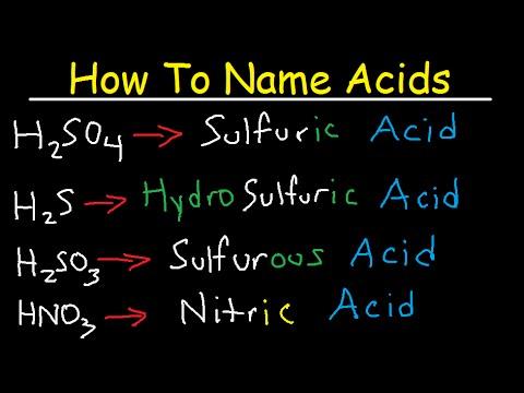 naming acids worksheet