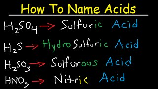 How To Name Acids - The Fast & Easy Way!