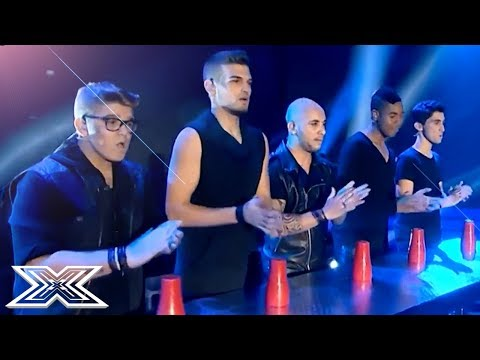 Boyband Fusion Perform Acoustic Cover With CUPS! | X Factor Global