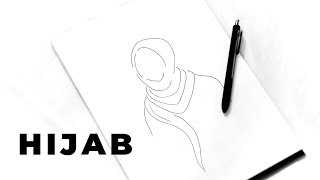 🎨 EASY HOW TO DRAW HIJAB TUTORIAL - MINIMALIST STYLE