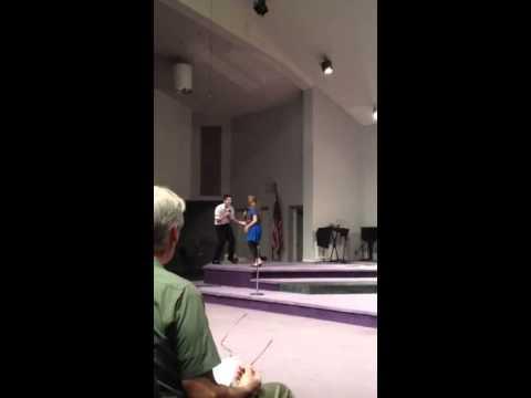 Alex Dunman & Jenna VanWeelden at Cincinnati Christian Schools Talent Show 2014