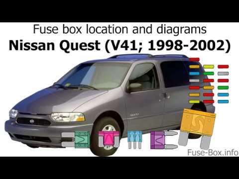 mercury villager fuse diagrams fuse box location and diagrams nissan quest  v41  1998 2002  fuse box location and diagrams nissan