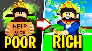 Poor To Rich The MUSICAL in Roblox BROOKHAVEN RP!!