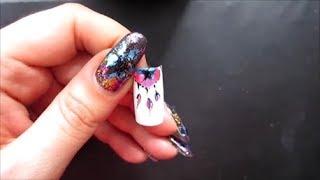 Простой рисунок на ногтях. Дизайн ногтей