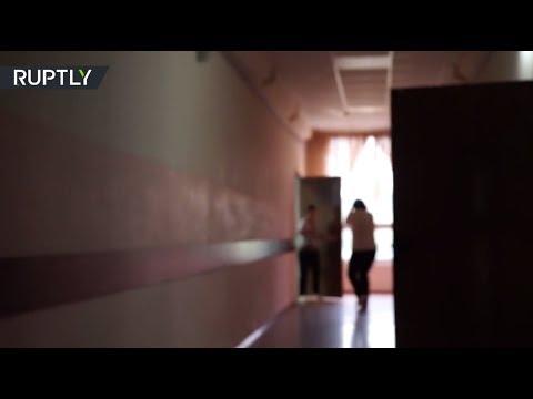 Первые секунды после стрельбы в школе Ивантеевки попали в объектив оператора местного телеканала