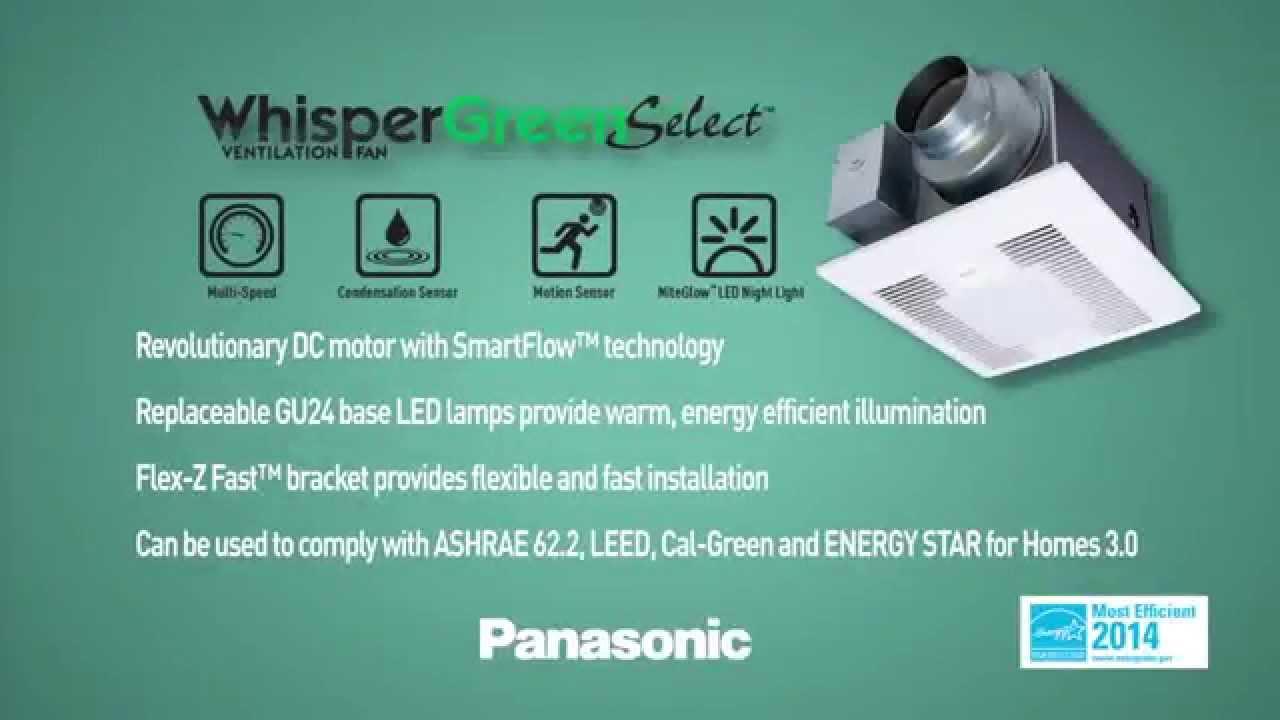 Panasonic Vent Fans Whisper Quiet & Energy Efficient Ventilation ...