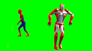 IronMan amp; SpiderMan Dancing  Green Screen Video 2019  YTschool