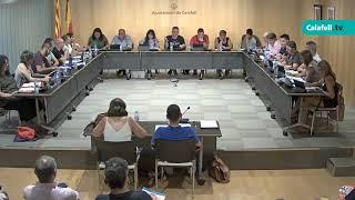 Ajuntament de Calafell: sessió plenària ordinària, 11 de juliol de 2019