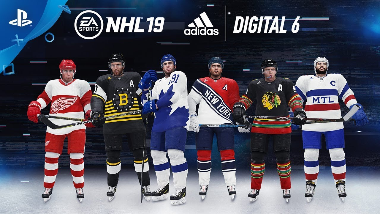 NHL 19 - EA Sports x adidas Digital 6 Jerseys  ab6b31bbd