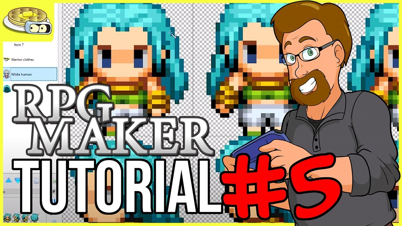 Creating Character SPRITES | BenderWaffles Teaches - RPG Maker Tutorial HOW  TO #5