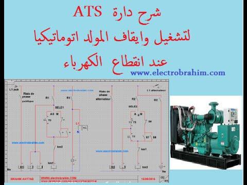 شرح دارة ATS لتشغيل المولد اتوماتيكيا عند انقطاع الكهرباء