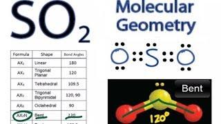 so2 molecular geometry shape and bond angles sulfur dioxide