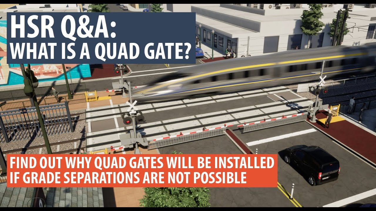 High-speed rail is committed to the safety of its trains and of those who live along the alignment. In areas where grade separations (meaning separating the track from the roadway) are not possible at this time, HSR will install quad gates. What is a quad gate and how will it protect you? Northern California Regional Director Boris Lipkin sits down with HSR's Karen Massie to explain.