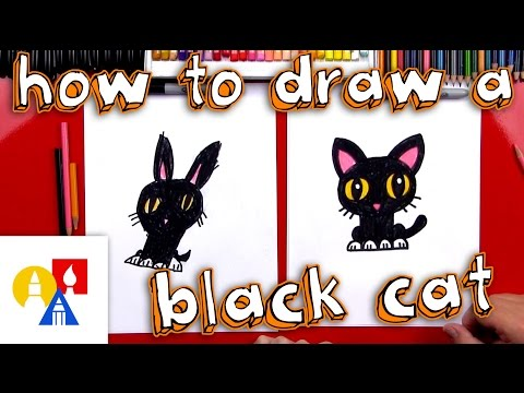 How To Draw A Cartoon Black Cat