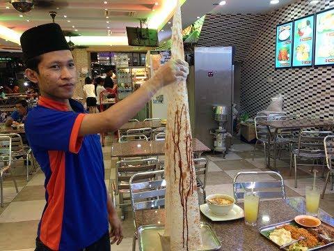 [Malaysia Street Food] humongous roti tissue