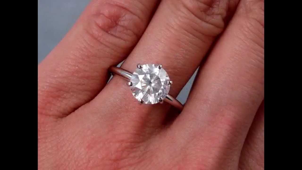 198 Ct Round Brilliant Solitaire Diamond Engagement Ring G Si3   Bigdiamondsusa  Youtube