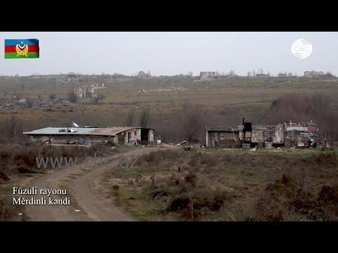 Видеокадры села Мердинли Физулинского района