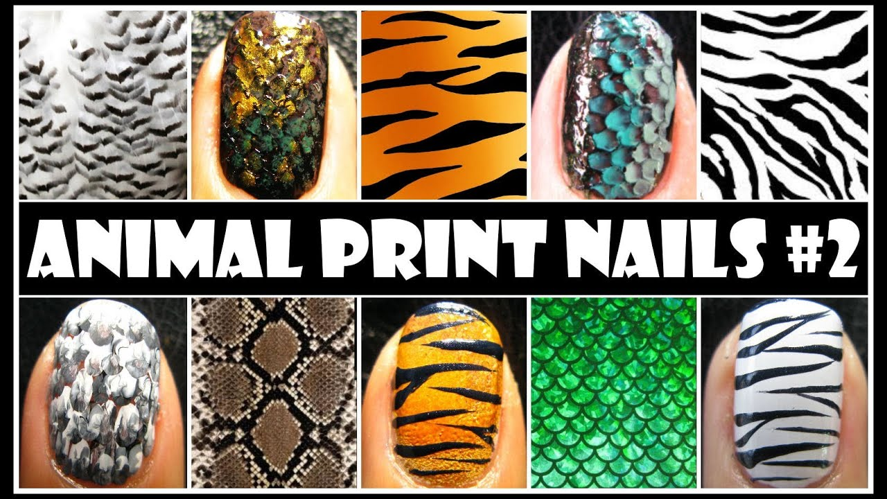 ANIMAL PRINT NAIL ART #2 | EASY NAIL DESIGN TUTORIALS FOR BEGINNERS ...