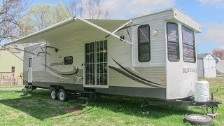 2013 Keystone Residence 405FL park model style travel trailer camper walk-around tutorial video