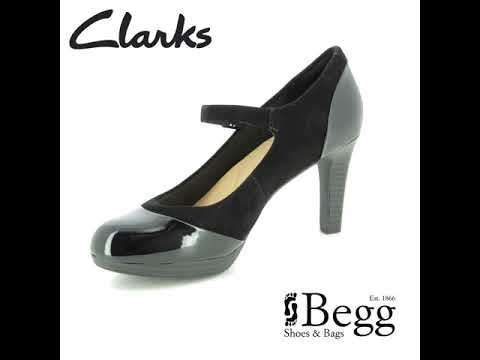 7191ba802b3 Clarks Adriel Carla D Fit Black high-heeled shoes