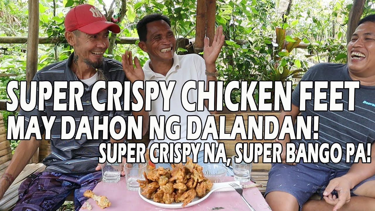 SUPER CRISPY CHICKEN FEET IN DALANDAN LEAVES