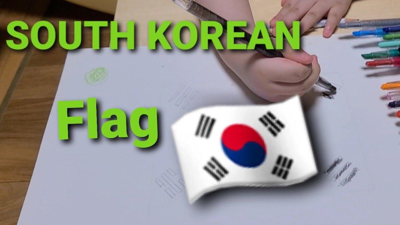 FLAG OF SOUTH KOREA -COLOURS AND MEANING, 🇰🇷 ( TAEGUKGI)