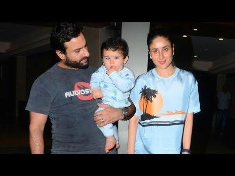 Saif Ali Khan Holds Baby Taimur Ali Khan In Arms At Soha Ali Khan's Birthday Bash