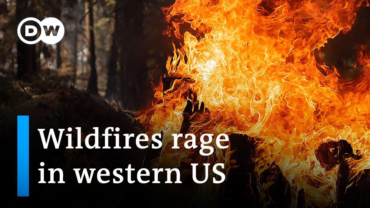 Серьёзные пожары в США
