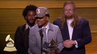 chance the rapper wins best new artist acceptance speech 59th grammys