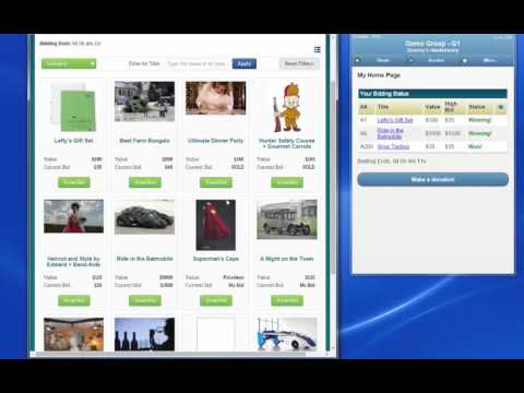 Online & Mobile Bidding Ends Example
