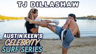TJ Dillashaw Does a 360 and Fights Austin Keen on Celebrity Surf Series