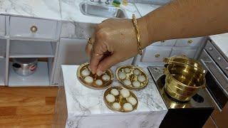 Miniature Idly+Coconut Chutney In Mini Kitchen | INDIAN BREAKFAST |TINY Foods|Mini Foods |Kid Videos