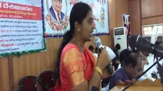 Swaroopa Mayar/Anantapur Addressing In Zp Hall,14-4-2016