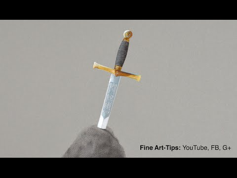 How to Draw Excalibur - The Sword in the Stone - King Arthur's Sword