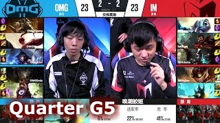 I May vs OMG   Game 5 Quarter Finals S7 LPL Spring 2017 Play-Offs   IM vs OMG G5 QF
