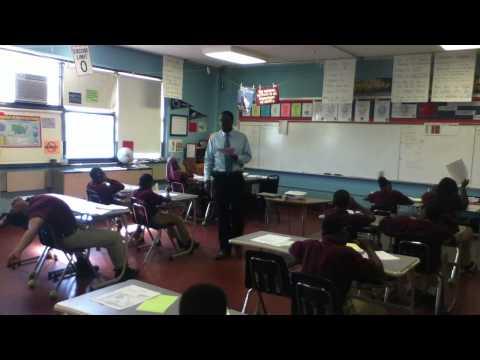 Mr. A teaching 5th/6th grade Social Studies