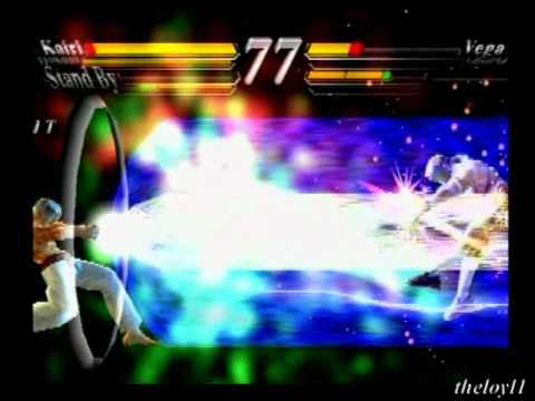 Street Fighter EX3 - Hokuto & Kairi's super & meteor combos with Knock Out flashes
