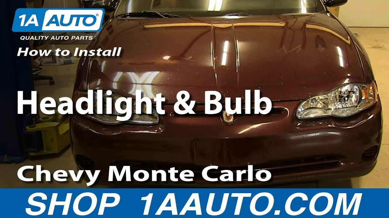 How To Replace Headlights 00 05 Chevy Monte Carlo