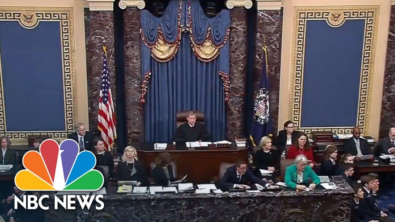Senators Find Trump 'Not Guilty' Of Obstruction Of Congress Impeachment Article | NBC News