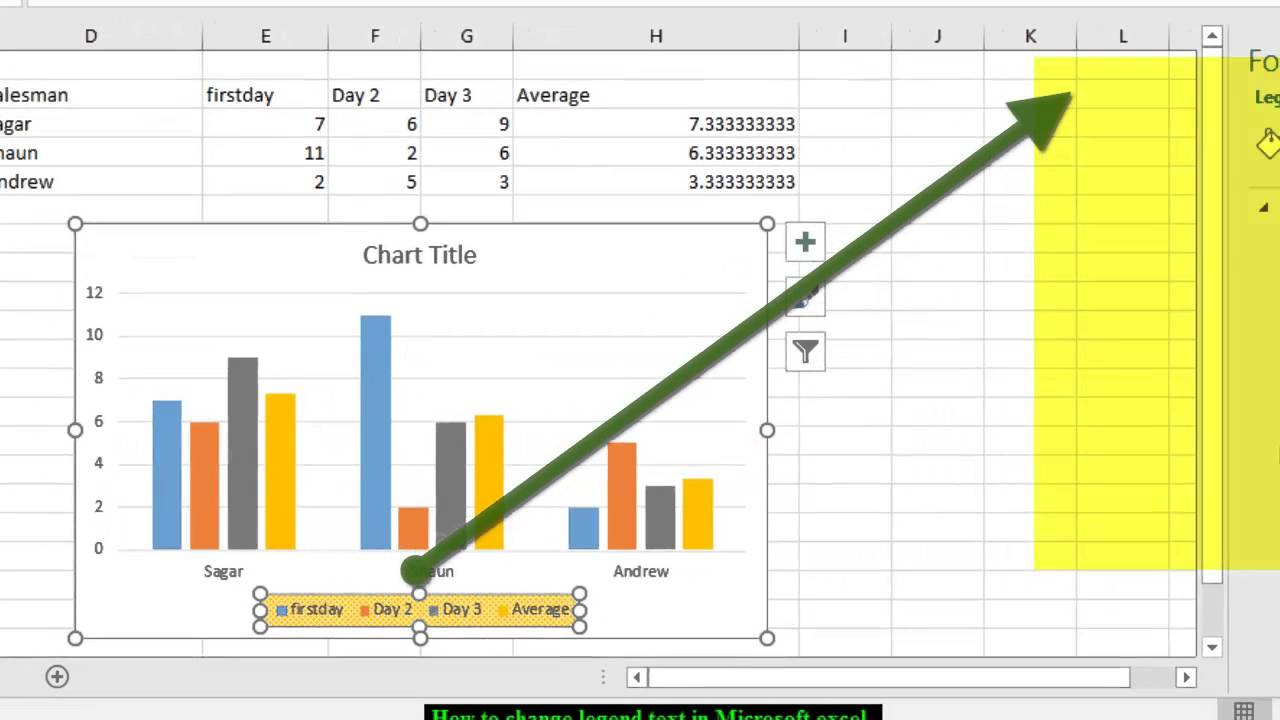 How To Edit Legend In Microsoft Excel Youtube