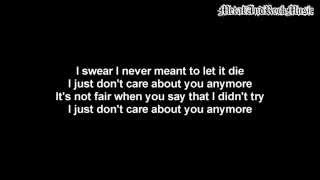 Three Days Grace - Let It Die | Lyrics on screen | HD