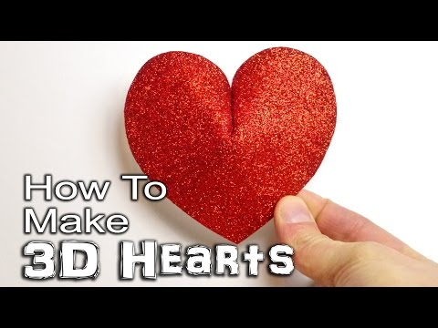 how-to-make-a-3d-heart---paper,-card-and-foam