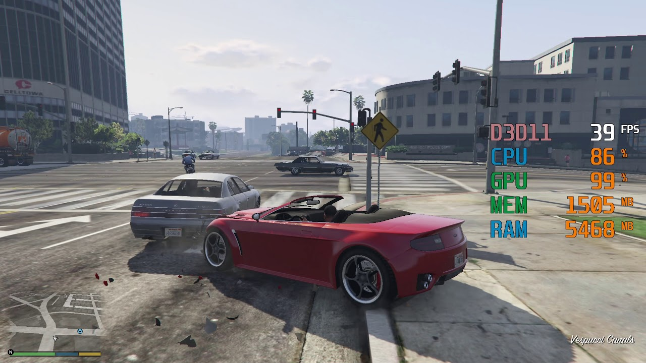 Amd Radeon R7 250 Amd Phenom Ii X4 940 Grand Theft Auto V Gta V Fps Test Youtube