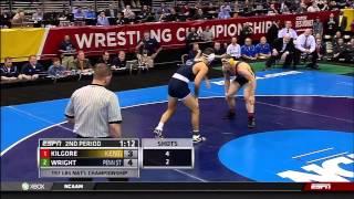 2013 NCAA Wrestling National Championships D1 Dustin Kilgore (Kent St.) vs. Quentin Wright (PSU)