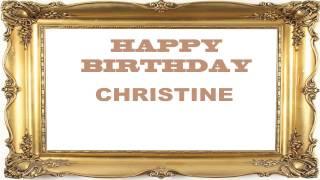 Christine   Birthday Postcards & Postales - Happy Birthday