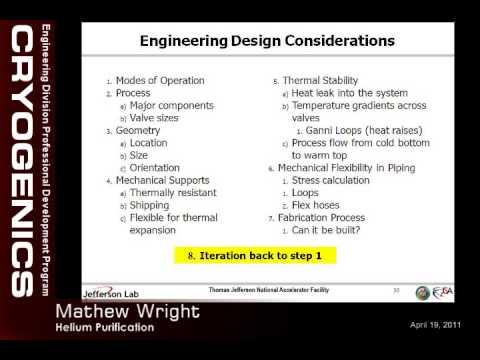 JLab Engineering Seminars - Helium Purification