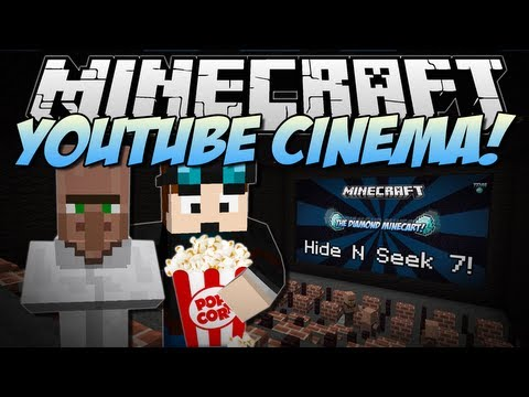 Minecraft | YOUTUBE CINEMA! (Web Displays Mod!) | Mod Showcase [1.6.4]